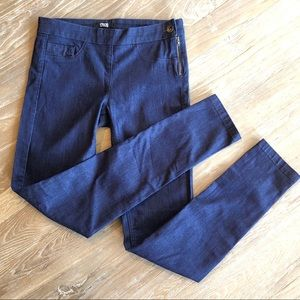 ASOS skinny jeans with side zipper and button sz 8
